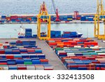 view of the cargo port and... | Shutterstock . vector #332413508