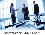 group of business objects and... | Shutterstock . vector #332414204