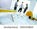 engineering objects on... | Shutterstock . vector #332414864
