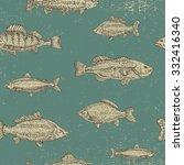 vintage marine pattern. hand... | Shutterstock .eps vector #332416340
