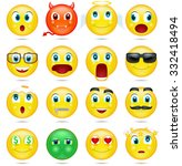 smiley collection. vector | Shutterstock .eps vector #332418494