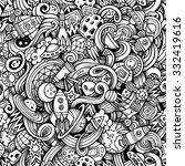 cartoon hand drawn doodles on... | Shutterstock .eps vector #332419616