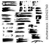 vector brush strokes collection ... | Shutterstock .eps vector #332422760