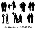 vector drawing people to walk.... | Shutterstock .eps vector #33242584