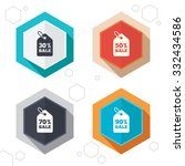hexagon buttons. sale price tag ... | Shutterstock .eps vector #332434586
