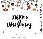 merry christmas. christmas... | Shutterstock .eps vector #332434769