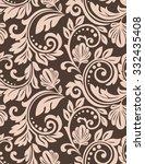 damask seamless floral pattern. ... | Shutterstock .eps vector #332435408