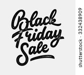 black friday sale handmade... | Shutterstock .eps vector #332438909