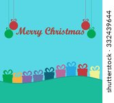 christmas colorful greeting... | Shutterstock .eps vector #332439644