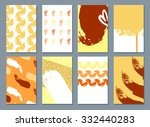 card with ink grunge texture.... | Shutterstock . vector #332440283