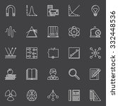 physics and science icons  ... | Shutterstock .eps vector #332448536