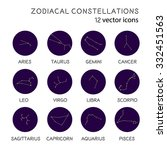 zodiacal constellations vector... | Shutterstock .eps vector #332451563
