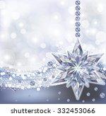 frozen wallpaper with diamond...   Shutterstock .eps vector #332453066
