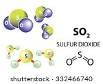 so2  sulfur dioxide is a toxic... | Shutterstock .eps vector #332466740