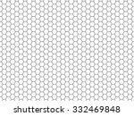 Grid seamless pattern. Hexagonal cell texture. Honeycomb on white background. Speaker grille. Fashion geometric design. Graphic style for wallpaper, wrapping, fabric, apparel, print production. Vector | Shutterstock vector #332469848