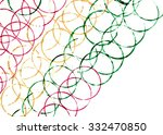 colorful lines of many circles... | Shutterstock . vector #332470850