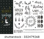 season's greetings. hand drawn... | Shutterstock .eps vector #332479268