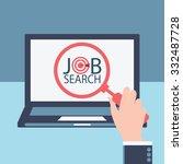job search  job hunting  job... | Shutterstock .eps vector #332487728