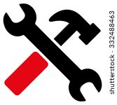 hammer and wrench vector icon.... | Shutterstock .eps vector #332488463