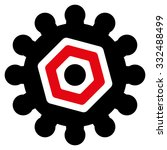 gears vector icon. style is... | Shutterstock .eps vector #332488499
