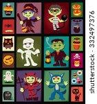 vintage halloween poster design ...   Shutterstock .eps vector #332497376