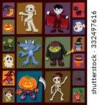 vintage halloween poster design ...   Shutterstock .eps vector #332497616