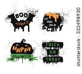 set of halloween concepts.... | Shutterstock .eps vector #332498930