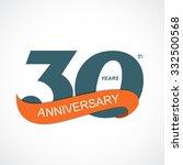 template logo 30th anniversary... | Shutterstock .eps vector #332500568