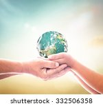 world mission concept  two... | Shutterstock . vector #332506358