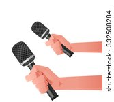 microphone illustration | Shutterstock .eps vector #332508284