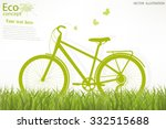 the bike on the grass....   Shutterstock .eps vector #332515688