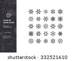 set of vector snowflakes shapes.... | Shutterstock .eps vector #332521610