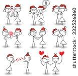stick figure christmas  | Shutterstock . vector #332526860