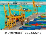 loading containers on a sea... | Shutterstock . vector #332532248