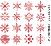 red snowflakes silhouette... | Shutterstock .eps vector #332537258
