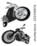 motos vector | Shutterstock .eps vector #332540876