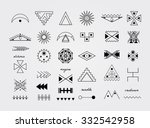 set of geometric shapes. trendy ... | Shutterstock .eps vector #332542958