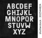 vector hand drawn alphabet with ... | Shutterstock .eps vector #332544824