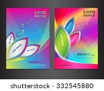 set colorful cover design... | Shutterstock .eps vector #332545880