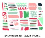 bright hand drawn textures and... | Shutterstock .eps vector #332549258