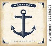 vintage anchor | Shutterstock . vector #332556878