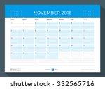 November 2016. Monthly Calendar ...