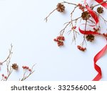 Winter White Background With...