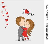 Love Couple.vector Illustratio...