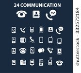 communication icons | Shutterstock .eps vector #332572184