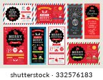 vector christmas party... | Shutterstock .eps vector #332576183