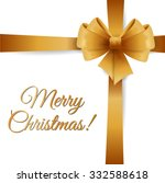 christmas card with bow and... | Shutterstock .eps vector #332588618