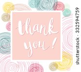 thank you card on abstract... | Shutterstock .eps vector #332594759