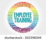 employee training circle stamp... | Shutterstock .eps vector #332598344