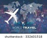 travel world map in polygonal... | Shutterstock .eps vector #332601518